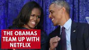 News video: Barack And Michelle Obama 'In Talks' To Produce Netflix Content