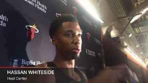 News video: Heat C Hassan Whiteside addresses Joel Embiid's post-game comments after Miami's win over Philadelphia