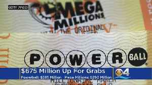 News video: Soaring Lottery Jackpots Offer Double Chances To Win Big This Weekend