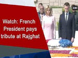 News video: Watch: French President pays tribute at Rajghat