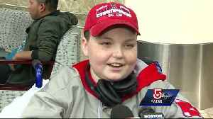 News video: 'I can't wait' Jimmy Fund kids leave to spring training