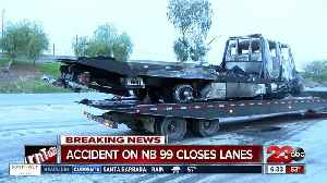 News video: Big rig crash shuts down highway 99
