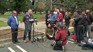 News video: Raw: Saturday Morning News Conference at Veterans Home of California