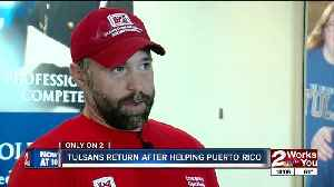 News video: Volunteers come home after restoring power in Puerto Rico