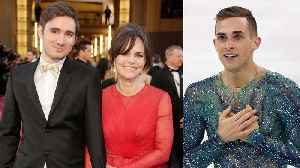 News video: Adam Rippon Finally Meets Sally Field's Son After She Tried to Hook Them Up!