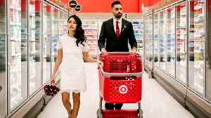 News video: Happy Couple Chooses Target as Backdrop for Pre-Wedding Photo Shoot