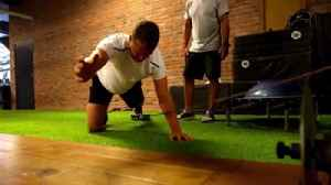 News video: Putting in work: How Jonathan Huberdeau gets his body ready for hockey