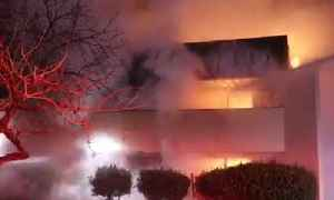 News video: VALLEJO FIRE: Raw video of 3-alarm Vallejo commercial building fire
