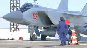 News video: A Russian hypersonic missile has been successfully test-launched from a MiG-31 jet.