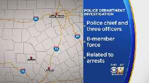 News video: Half Of Small Texas City's Police Force Facing Charges