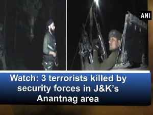 News video: Watch: 3 terrorists killed by security forces in J&K's Anantnag area