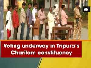 News video: Voting underway in Tripura's Charilam constituency