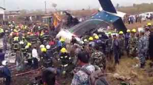 Video of Nepal plane crash scene shows wreckage and billowing smoke [Video]