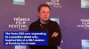 News video: Elon Musk Says Kanye West Has 'Obviously' Inspired Him