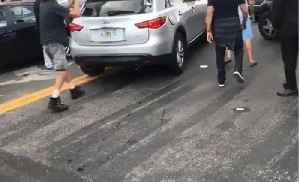 News video: Crash, Dash, Smash: Man Takes Hammer to SUV Running From Collision in Miami
