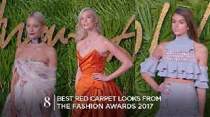 News video: 8 of the best dressed at the Fashion Awards 2017