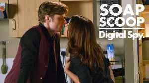 News video: Soap Scoop! Corrie - Carla makes a move on Daniel (Week 5)