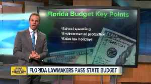 News video: 10 Things to know about Florida's new budget