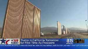 News video: Trump Readies For First California Visit As President