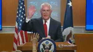 News video: Tillerson says goodbye, to step down March 31