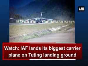 News video: Watch: IAF lands its biggest carrier plane on Tuting landing ground