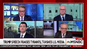 News video: Joe Scarborough Likens Trump's Saturday Speech To A 'Mussolini Rally'