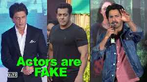 News video: Actors are FAKE, just PRODUCTS: Varun Dhawan