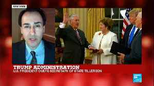 News video: Trump fires Tillerson -
