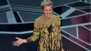 News video: Frances McDormand's Oscar Speech Already Making A Difference