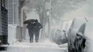 News video: Third Storm in Two Weeks Slams New England