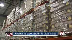 News video: Blue Bell Ice Cream back in Indiana