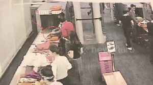 News video: Airport guard caught on CCTV stealing cash from passenger's bag