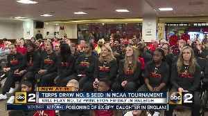 News video: Terps draw No. 5 seed, will play No. 12 Princeton in Raleigh in first round of NCAA Tournament