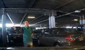 News video: Parking row erupts as woman stands in space to hold it for another driver