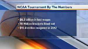 News video: What is the drop in productivity during March Madness?