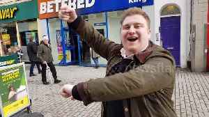 Cheltenham lads chant on high-street on race day [Video]