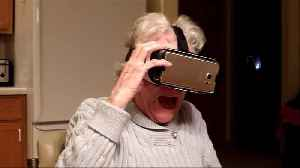 News video: Grandma Is Not A Fan Of The VR Roller Coaster