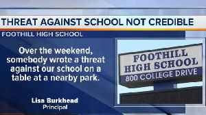 News video: Threat made against Foothill High School