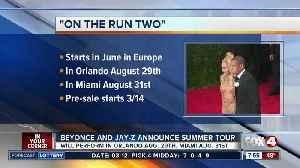 News video: Beyonce and Jay Z world tour to make two Florida stops