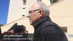 News video: Hurricanes men's basketball coach Jim Larrañaga talks Loyola, Bruce Brown