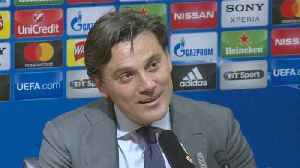News video: Montella beams with joy after historic win over Man United