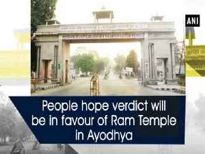 News video: People hope verdict will be in favour of Ram Temple in Ayodhya