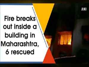 News video: Fire breaks out inside a building in Maharashtra, 6 rescued