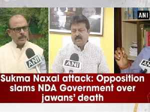 News video: Sukma Naxal attack: Opposition slams NDA Government over jawans' death