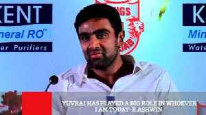 News video: Yuvraj Has Played A Big Role In Whoever I Am Today- R.Ashwin