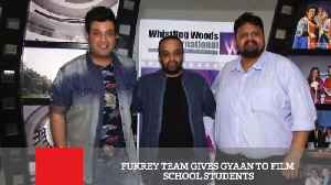News video: Fukrey Team Gives Gyaan To Film School Students