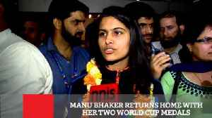News video: Manu Bhaker Returns Home With Her Two World Cup Medals