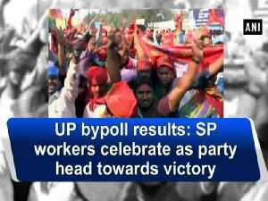 News video: UP bypoll results: SP workers celebrate as party head towards victory