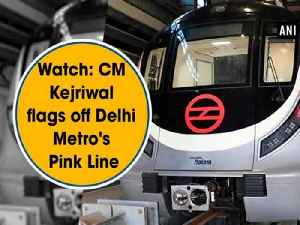 News video: Watch: CM Kejriwal flags off Delhi Metro's Pink Line