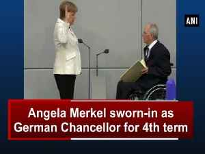 News video: Angela Merkel sworn-in as German Chancellor for 4th term
